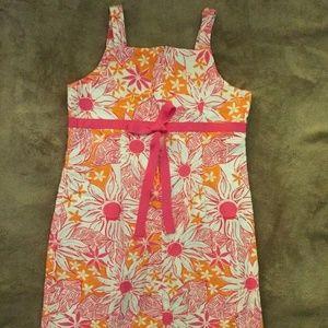Lilly Pulitzer Cotton Sleeveless Shift Dress Sz 14